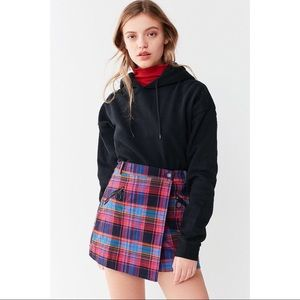 Urban Outfitters Bright Plaid Mini Skirt